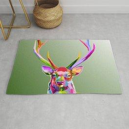 Colorful Deer (Illustration) Rug