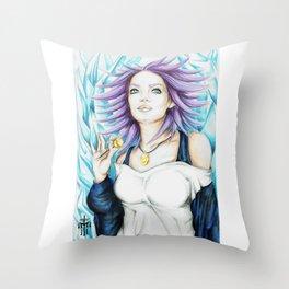 Shirayuki Mizore Fan Art Throw Pillow