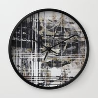 cage Wall Clocks featuring Cage by George Lockyer