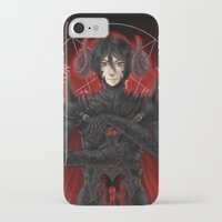 kuroshitsuji iPhone & iPod Cases featuring KUROSHITSUJI - SEBASTIAN MICHAELIS BLACK KNIGHT by zero0810