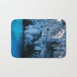 NATURE'S WONDER #3 - BLUE GROTTO #art #society6 Bath Mat