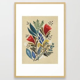 folkflower II Framed Art Print