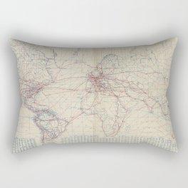 Vintage World Air Travel Map (1919) Rectangular Pillow
