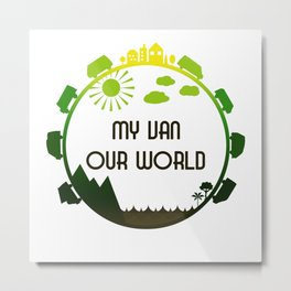 My Van Our World - Forest Metal Print
