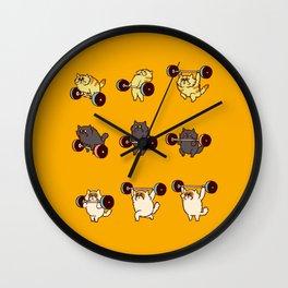Olympic Lifting Cat Wall Clock