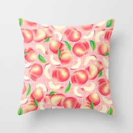 Peachy and Pink Throw Pillow
