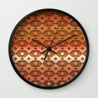 copper Wall Clocks featuring Copper by Lyle Hatch