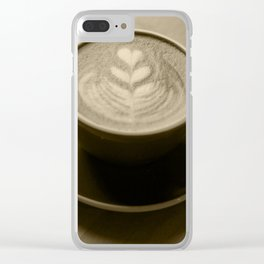 Cappuccino Heart Clear iPhone Case