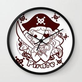Kawaii Kiddies Cute Pirate! Wall Clock