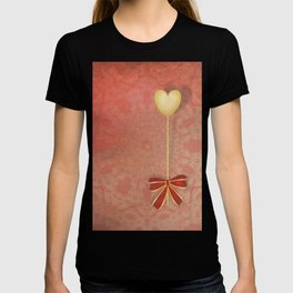 beautiful heart on texture kaleidoscope T-shirt