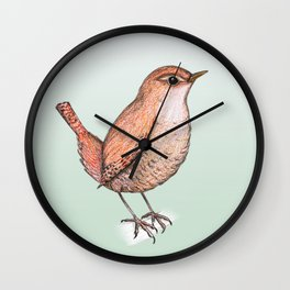 Cute wren Wall Clock