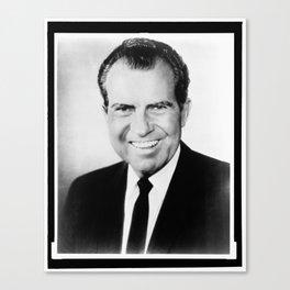 Portrait of Richard Nixon Canvas Print
