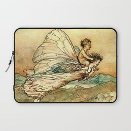 """Bear the Changeling to My Bower"" Art by Arthur Rackham Laptop Sleeve"
