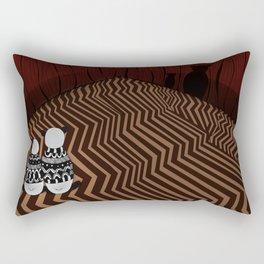 Pandas in the red room Rectangular Pillow