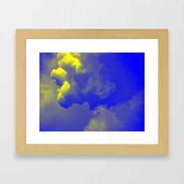 Sky yellow blue Framed Art Print