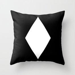 White Diamond ... Black Background Throw Pillow