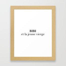 BIBI et la jeune vierge Framed Art Print