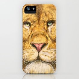 Regal Lion Drawing iPhone Case