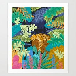 Sleeping Panther Art Print