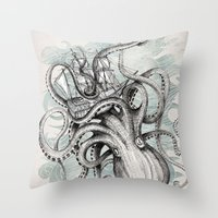 ships Throw Pillows featuring The Baltic Sea by David Fleck