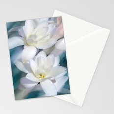 Flowers white macro 057 Stationery Cards