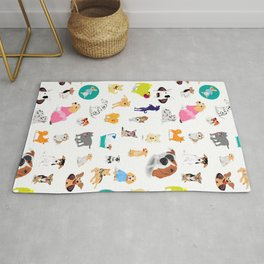 Pattern of dogs, adorable and friendly animal. Rug