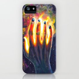 Hand study #4. Touch the stars iPhone Case