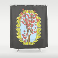 frame Shower Curtains featuring Frame  by nandita singh
