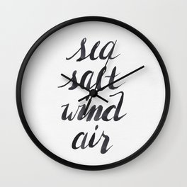 Sea, Salt, Wind, Air Wall Clock