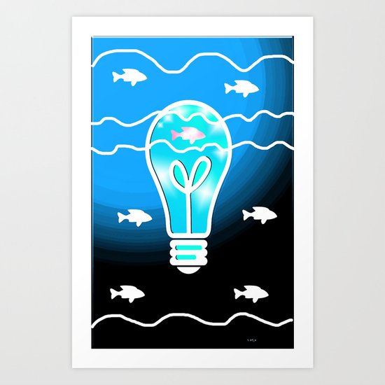 Shine the Way Art Print