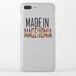 Made In Macedonia Clear iPhone Case