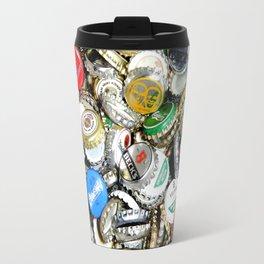 Bottle Caps Painting | Vintage Travel Mug