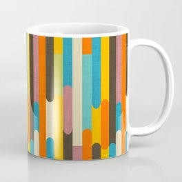 Retro Color Block Popsicle Sticks Orange Coffee Mug
