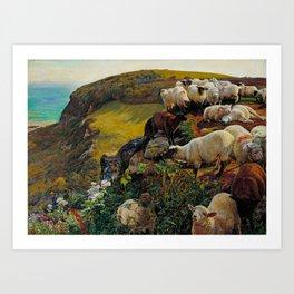 William Holman Hunt - Our English Coasts Art Print