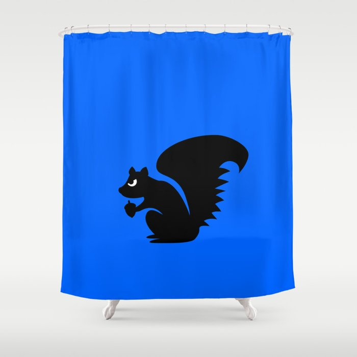 Angry Animals Squirrel Shower Curtain