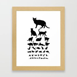 Cat Eye Chart (monochrome) Framed Art Print