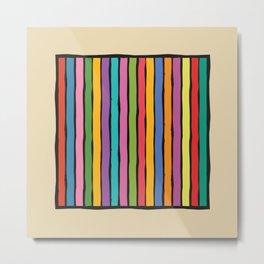 dp203-12 Colorful Stripes Metal Print