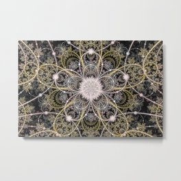 Mobius Flower Metal Print