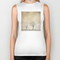 jon snow Biker Tanks featuring Snow Bokeh Wonderland  by Laura Ruth