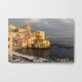 Marina bay, Boccadasse, Genoa, Italy. Metal Print