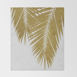 Palm Leaf Gold II Throw Blanket