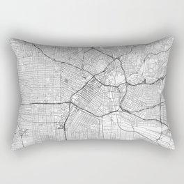 Los Angeles Map Line Rectangular Pillow