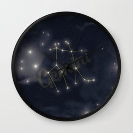 Gemini Constellation - Zodiac Wall Clock