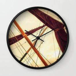 Masts of Yacht Wall Clock