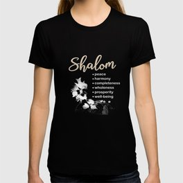 Christian T Shirt with Hebrew Word 'Shalom' and its Meanings T-shirt