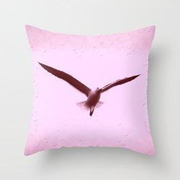 Gaivota - Seagull - Red Throw Pillow