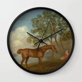 George Stubbs - Pumpkin with a Stable-lad Wall Clock