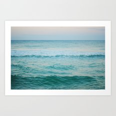 only the ocean Art Print