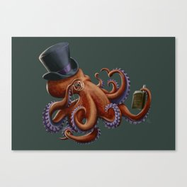 Tentacled Monocled Sir Canvas Print