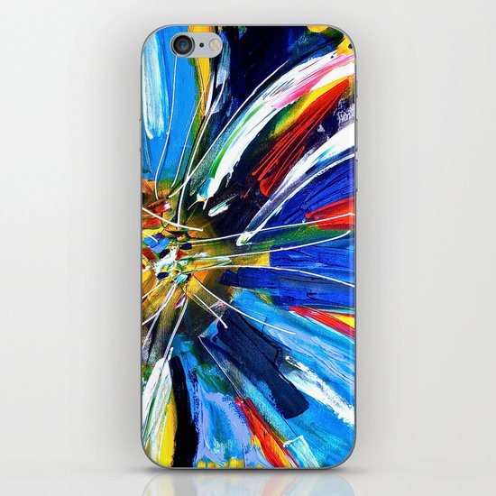 Dutch Spin - Colorful abstract painting flower iPhone & iPod Skin